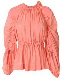 Fendi - Off Shoulder Cotton Top - Lyst