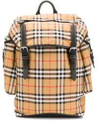 Burberry - Check Ranger Backpack - Lyst