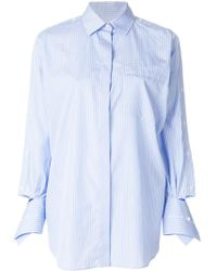 Valentino - Oversized Striped Shirt - Lyst