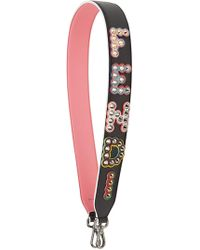 Fendi - Embroidered Leather Strap - Lyst