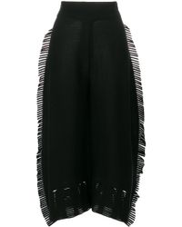 Issey Miyake - Cotton Blend Shorts With Fringes - Lyst