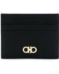 Ferragamo - Revival Leather Card Holder - Lyst