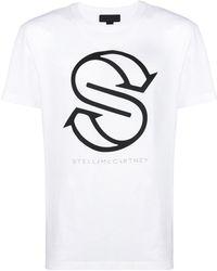 Stella McCartney - Logo Print Cotton T-shirt - Lyst