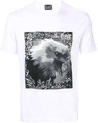 EA7 - Logo Printed T-shirt - Lyst