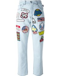 Gcds - Patched Jeans - Lyst