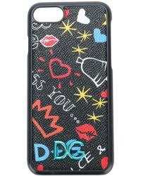 Negro Y Multicolor Iphone De Impresión Graffiti.7 Caso De Dolce & Gabbana 9uowFBX