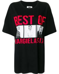 MM6 by Maison Martin Margiela - Cotton T-shirt With Print - Lyst