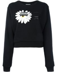Chiara Ferragni - Wink Patches Sweatshirt - Lyst