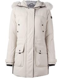 Peuterey Down Jacket With Fur - Natural