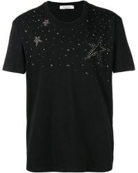 Valentino - Short Sleeve Jersey T-shirt With Star Studs - Lyst