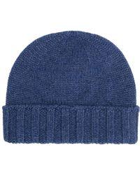 Drumohr - Knitted Beanie Hat - Lyst