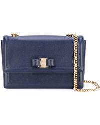 Ferragamo - Ginny Leather Shoulder Bag - Lyst