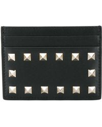 Valentino - Rockstud Leather Card Holder - Lyst