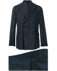 Gabriele Pasini - Double-breasted Cotton Suit - Lyst