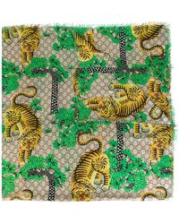 Gucci - Gg Supreme Bengal Scarf - Lyst
