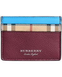 Burberry - London Check Card Case - Lyst