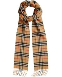 Burberry - Vintage Check Extra-long Skinny Scarf - Lyst