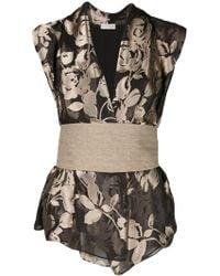 Brunello Cucinelli - Silk Blend Floral Corset Top - Lyst