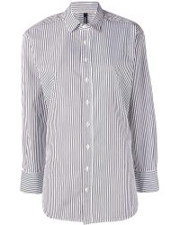 Woolrich - Striped Oversized Shirt - Lyst