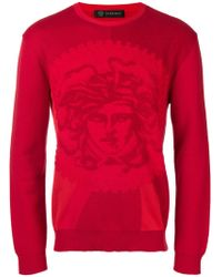 Versace - Cotton Pullover With Medusa Logo - Lyst