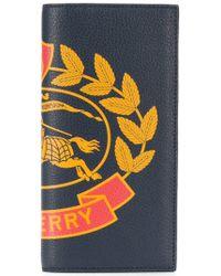Burberry - Portafoglio Cavendish In Pelle Con Stampa - Lyst