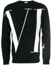 Valentino - Vltn Intarsia Wool Sweater - Lyst
