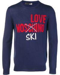 Love Moschino - Intarsia-knit Jumper - Lyst