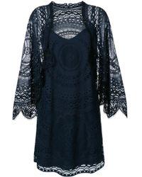 Chloé - Short Lace Cotton Dress - Lyst