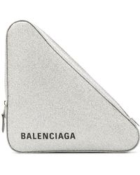 Balenciaga - Glitter Triangle Medium Pochette - Lyst