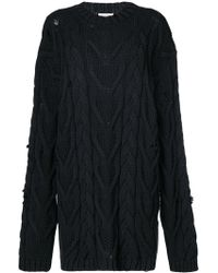 Palm Angels - Cable Knit Sweater - Lyst