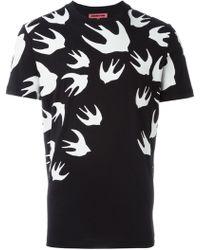McQ Alexander McQueen | Swallow Printed T-shirt | Lyst