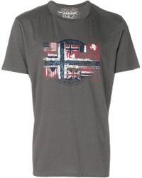 Napapijri - Printed Cotton T-shirt - Lyst