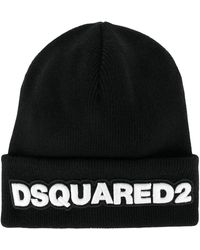 DSquared² - Written Wool Hat - Lyst