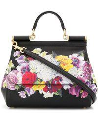 Dolce & Gabbana - Miss Sicily Leather Handbag - Lyst