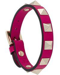 Valentino - Rockstud Small Leather Bracelet - Lyst