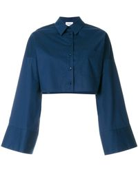Dondup - Flared-sleeve Cropped Shirt - Lyst