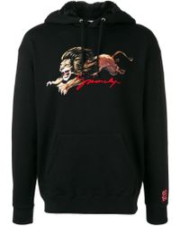 Givenchy - Faux Fur-lined Printed Loopback Cotton-jersey Hoodie - Lyst