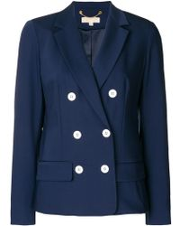 MICHAEL Michael Kors   Double Breasted Wool Jacket   Lyst