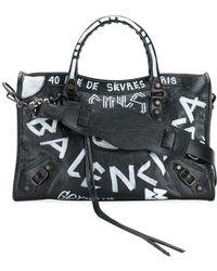 Balenciaga - Classic City Small Handbag With Graffiti - Lyst