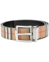 Burberry - Leather Clark Belt - Lyst
