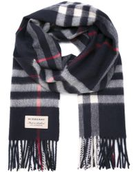 Burberry - Checked Scarf - Lyst