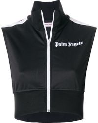 Palm Angels - Zipped Cropped Top - Lyst