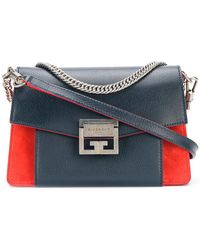 Givenchy - Gv3 Small Bicolor Leather Shoulder Bag - Lyst