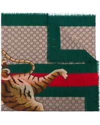 Gucci - Bengal Print Scarf - Lyst