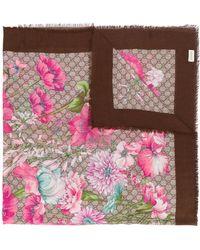 Gucci - Spring Bouquet Gg Shawl - Lyst
