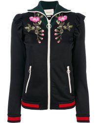 Gucci - Embroidered Blend Cotton Sweatshirt - Lyst