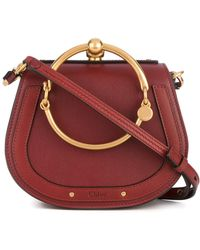 Chloé - Nile Small Leather Shoulder Bag - Lyst