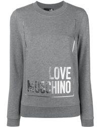 Love Moschino - Crew Neck Cotton Sweatshirt - Lyst