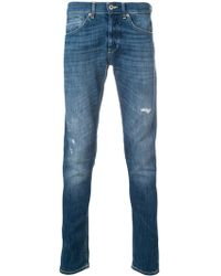 Dondup - Cotton George Jeans With Straps - Lyst