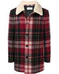 Saint Laurent - Wool Shearling Coat - Lyst